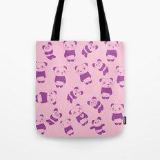 Pink Panda Tote Bag