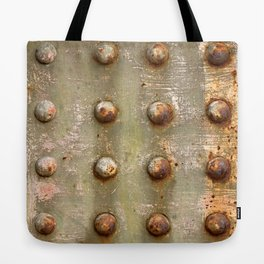 background with steel rivets Tote Bag