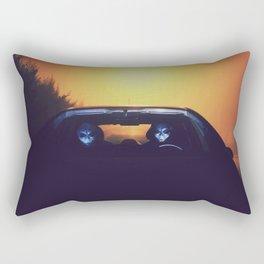 Time travelling aliens Rectangular Pillow