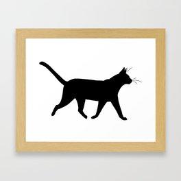 Cat Silhouette Framed Art Print