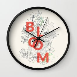 Vintage Bloom #society6 Wall Clock
