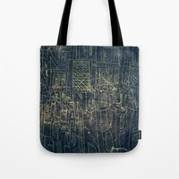 cinema Tote Bags featuring ENGRAVE CINEMA by AMULET