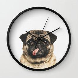 Cheeky Pug Wall Clock
