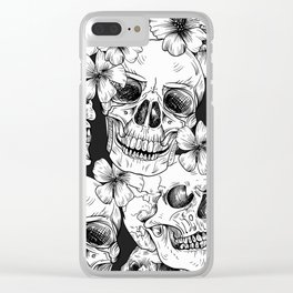 Cool mexican skull heads party celebration design Clear iPhone Case