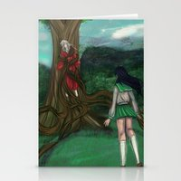 inuyasha Stationery Cards featuring Inuyasha and Kagome by Creativelea