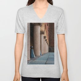 Colonnade in the Town Hall of Stockholm. Color Unisex V-Neck