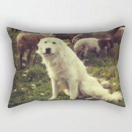 Herding dog, female, south of Israel, scaned sx-70 Polaroid Rectangular Pillow