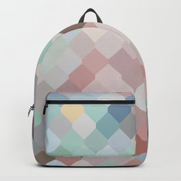 Colored mesh pattern Backpack