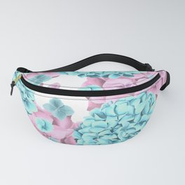 Modern girly pink teal watercolor hortensia pattern Fanny Pack