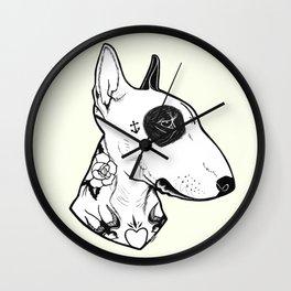 Bull Terrier dog Tattooed Wall Clock