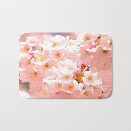 Pretty Pink Spring Blossoms :) Bath Mat
