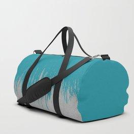 Concrete Fringe Teal Duffle Bag