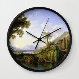 English Gardens of Caserta, Italy by Jakob Philipp Hackert Wall Clock