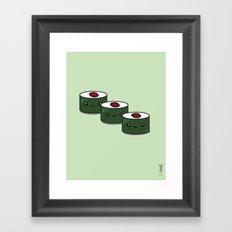 Tuna Roll Sushi Framed Art Print