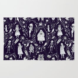 Creatures of the Night (purple) Rug
