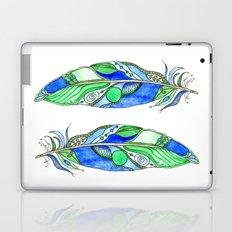 Bohemian Spirit Feathers - Blue & Green Laptop & iPad Skin