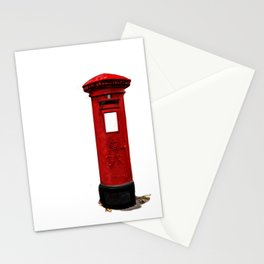 Red, Royal Mail, BRITISH Post Box. Stationery Cards