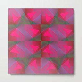 Geometric Strawberries Metal Print
