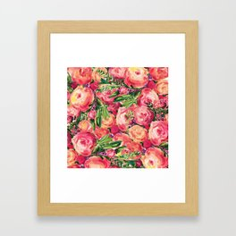 Pretty Peonies Framed Art Print