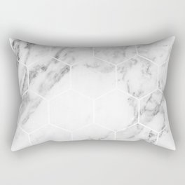 White marble hexagonal beehive Rectangular Pillow