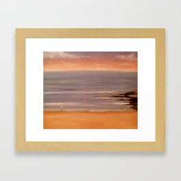 View of Tabacco Beach, Southern Spain Framed Art Print