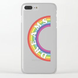 Rainbow Dreams Clear iPhone Case
