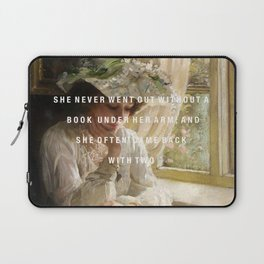 never without a book Laptop Sleeve