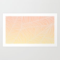 TROPICAL LEAF - dreamy look (pink and yellow) Art Print