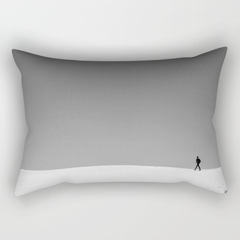White Sands, Black Figure Rectangular Pillow RPW8643064
