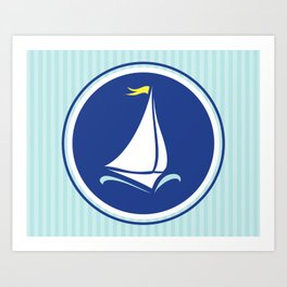 Sailboat Print  Art Print