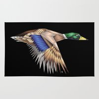 duck Area & Throw Rugs featuring Duck by AkuMimpi