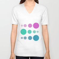 bubbles V-neck T-shirts featuring Bubbles by Cs025
