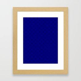 Black on Navy Blue Snowflakes Framed Art Print