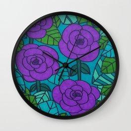 Garden Scene in Cool Tones Wall Clock
