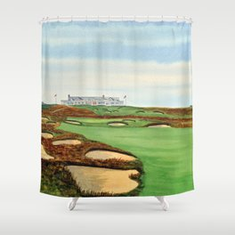 Shinnecock Hills Golf Course With Clubhouse Shower Curtain