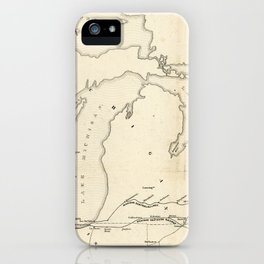 Railroad & The Northwestern States in 1850 iPhone Case