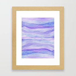Ultra Violet Watercolor Layers Framed Art Print
