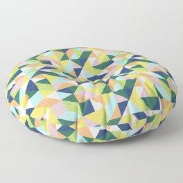 Bright Patchwork Floor Pillow