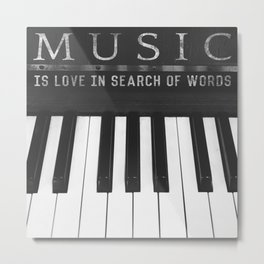 Love In Search Of Words Metal Print