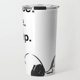 Snoopy - peace love sleep Travel Mug