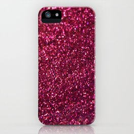Pink sparkles iPhone Case