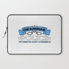 Grammar Police To Serve And Correct Laptop Sleeve