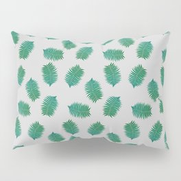 Turquoise leaves nature pattern Pillow Sham