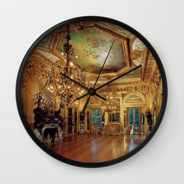 Newport Mansions, Rhode Island - Marble House - Gold Room #1 Wall Clock
