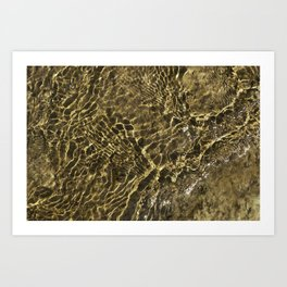 Golden Ripples of Little Gold Lake Art Print