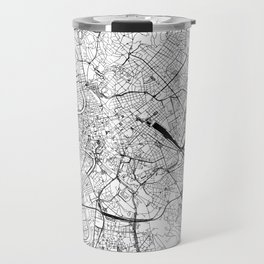 Rome White Map Travel Mug