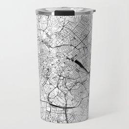 Rome White Map Travel Mug