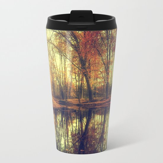 Autumn in the forest Metal Travel Mug