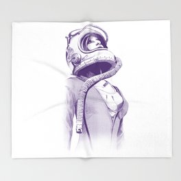 Space Woman Throw Blanket