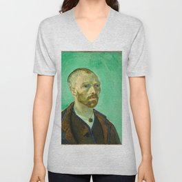 Vincent van Gogh - Self-Portrait Dedicated to Paul Gauguin Unisex V-Neck